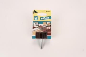 Rotary flap wheel sander, grit 80 WOLFCRAFT