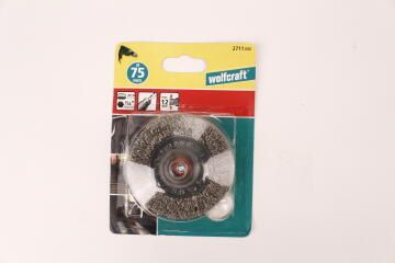 Stainless steel wire wheel brush hex 1/4 WOLFCRAFT