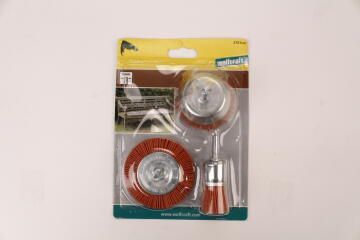 Set Of Nylon Brushes With Shank 6 Mm Wolfcraft
