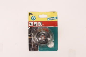 Stainless steel wire cup brush hex 1/4 WOLFCRAFT