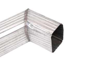 Galvanized Steel Downpipe Square Shoe Soldered 100mm x 100mm PREMIER