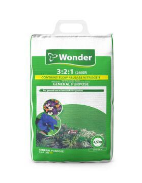 Fertiliser, General Purpose 3:2:1SR, WONDER, 4.5kg