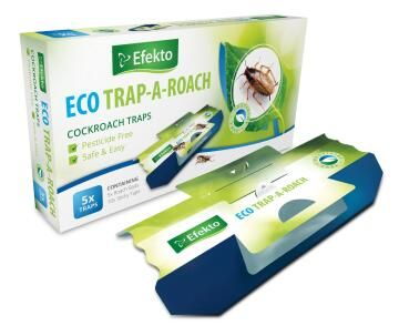 Eco Trap-A-Roach, Cockroach Control, EFEKTO, 5 Per Pack