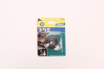 Wire Wheel Brush, Hexagon Shank 1/4 WOLFCRAFT