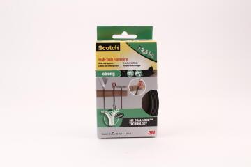 Dual lock high tech fasteners strong black 25mmx1.2m 2 rolls scotch