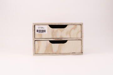 2 Tray Pine Drawer Organizer H17 x W26 x D33cm