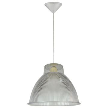 PENDANT LAMP E27 1X60W PLASTIC TRANSPARENT