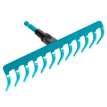 Rake, Combisystem Rake, 12 Teeth, GARDENA, 3177-20, 300mm, Excludes Handle