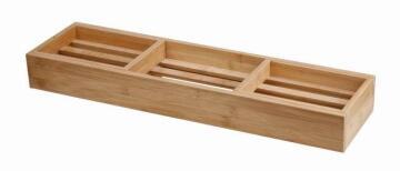 Bamboo adjustable bathtub Rack