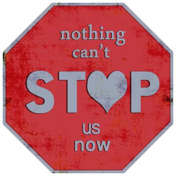 WALL PLAQUE STOP HEART 30X30X2CM