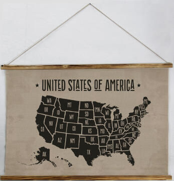 WALL PLAQUE MAP 100X1.2X73M