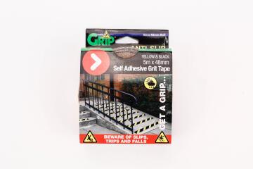 Anti-slip self adhesive grid tape yellow & black 5mx48mm perma