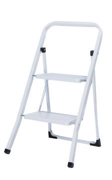 1PR 2 STEP STOOL 150KGS STEEL WHITE