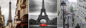 CANVAS PARIS 30X30CM SET 3