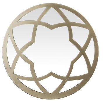 MIRROR METAL ROUND CIRCLES GOLD 33D