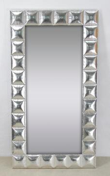 Mirror Metal Rectangle Silver Glam 63.5x116cm