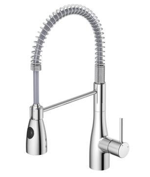 Kitchen tap lever mixer with flexible spray DELINIA Delicio chrome