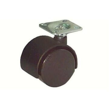 1PR SWIVEL CASTER BLACK D40MM
