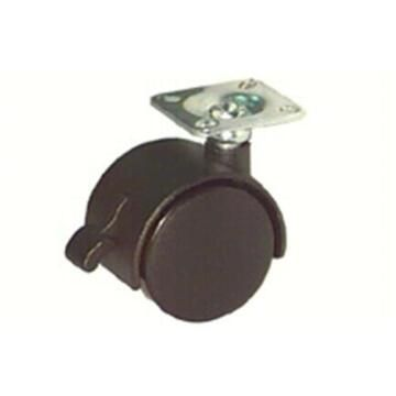 SWIVEL CASTER W/BRAKE BLACK D40MM