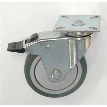 SWIVEL CASTER BICOLOR W/BRAKE D50MM