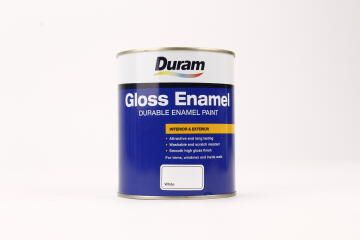 Paint DURAM Gloss Enamel White 1L