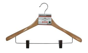 Hanger Suit Wooden w/t clips
