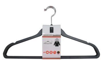 4pc Hanger Stackable Plastic Charcoal