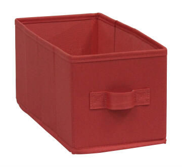 Storage basket polyester coral 15cm X 31cm X 15cm