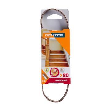 Mini Sanding Belt Wood G80 Dexter 13X454Mm 2 Pieces