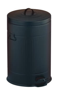 Kitchen pedal bin 20L galvanized black