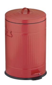 Kitchen pedal bin 20L galvanized red