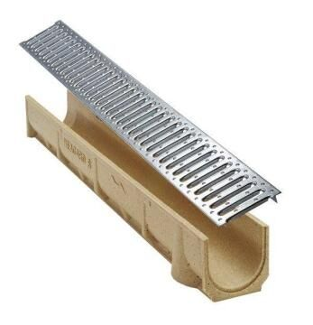 Polymer Drainage Channel H97 1m Without Grate ACO