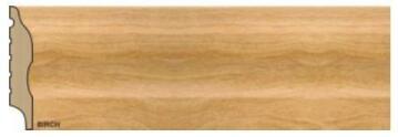 Skirting Polymer Curved Birch-15x75x2700mm-pack of 2
