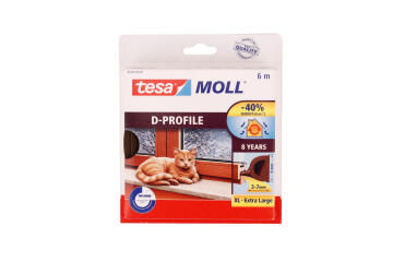 D-Profile brown TESAMOLL 6m x 9mm x 8mm