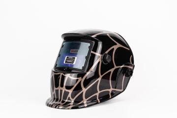 Helmet MATWELD auto dark w/grind red
