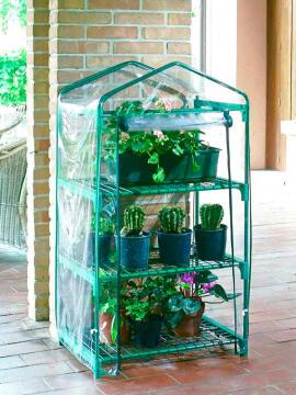 Greenhouse Balcony Nortene 30Cmx50Cmx1.25M Steel Frame Easy Access