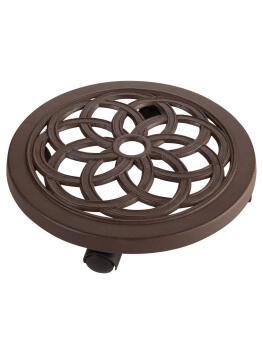 Pot Roller Flora Aluminium Diam 30Cm