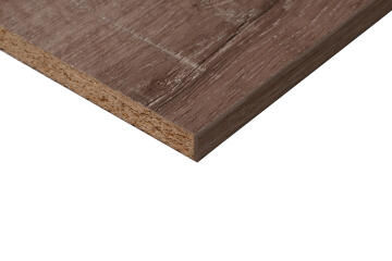 Plank Melamine on Chip Monument Oak Linear 16mm thick-2750x530mm