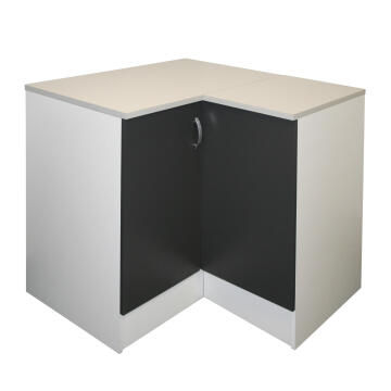 Kitchen base cabinet kit corner 2 door SPRINT grey L100cmxH87cmxD100cm