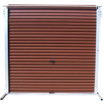 Garage Door Roll Up Aluzinc Brown-w2450xh2100mm