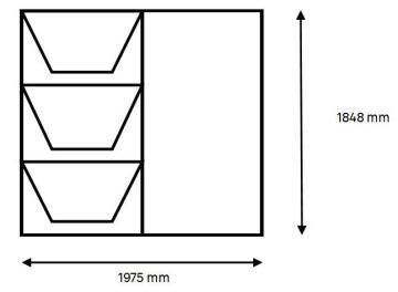 Window Steel Top Hung TD678 Left Hand Opening F7 (standard profile)-w1975xh1848mm