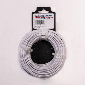 Communication cable for alarm 4 core white 25m