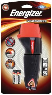 FLASHLIGHT RED AND BLACK ENERGIZER 2