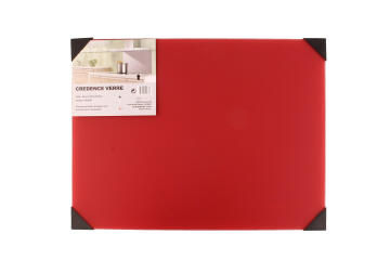 Kitchen splashback glass Serigraphic print red L60cmxW45cmxT0.5cm