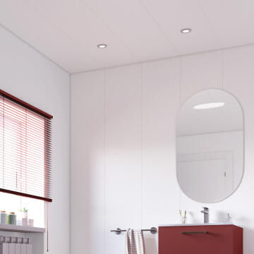 Wall Panels PVC White 375x2600mm-Pack of 4.875m2