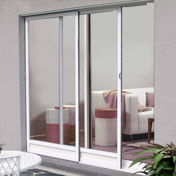 Mosquito Net for Door up to 1600mm wide Horizontal Slide White-w1600xh2300mm