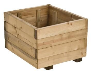 PLANTER BOX FLOWER RUSTICA 40 CM X 40 CM X 27 CM