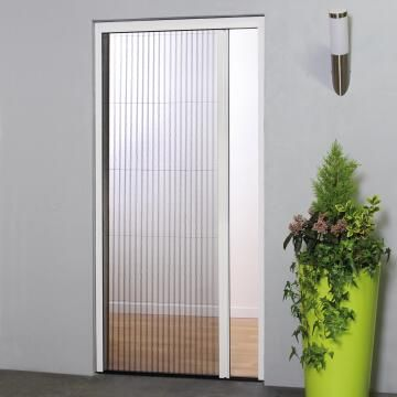 Mosquito Net for Door up to 1000mm wide Horizontal Slide White-w1000xh2300mm