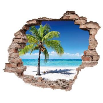 WALL STICKER 3D BEACH 50X70