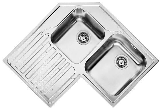 Kitchen Sink 2 Bowls 1 Drainer Stainless Steel Drop In Franke Stx621 Rt 830 X 830mm Leroy Merlin South Africa